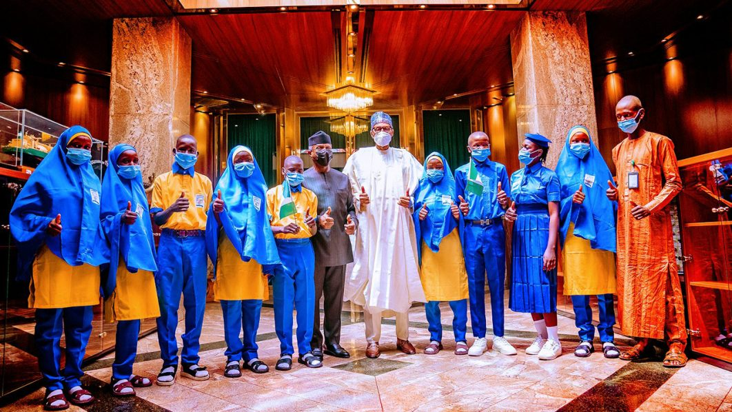 We're targeting more 3m children for free feeding, says Buhari