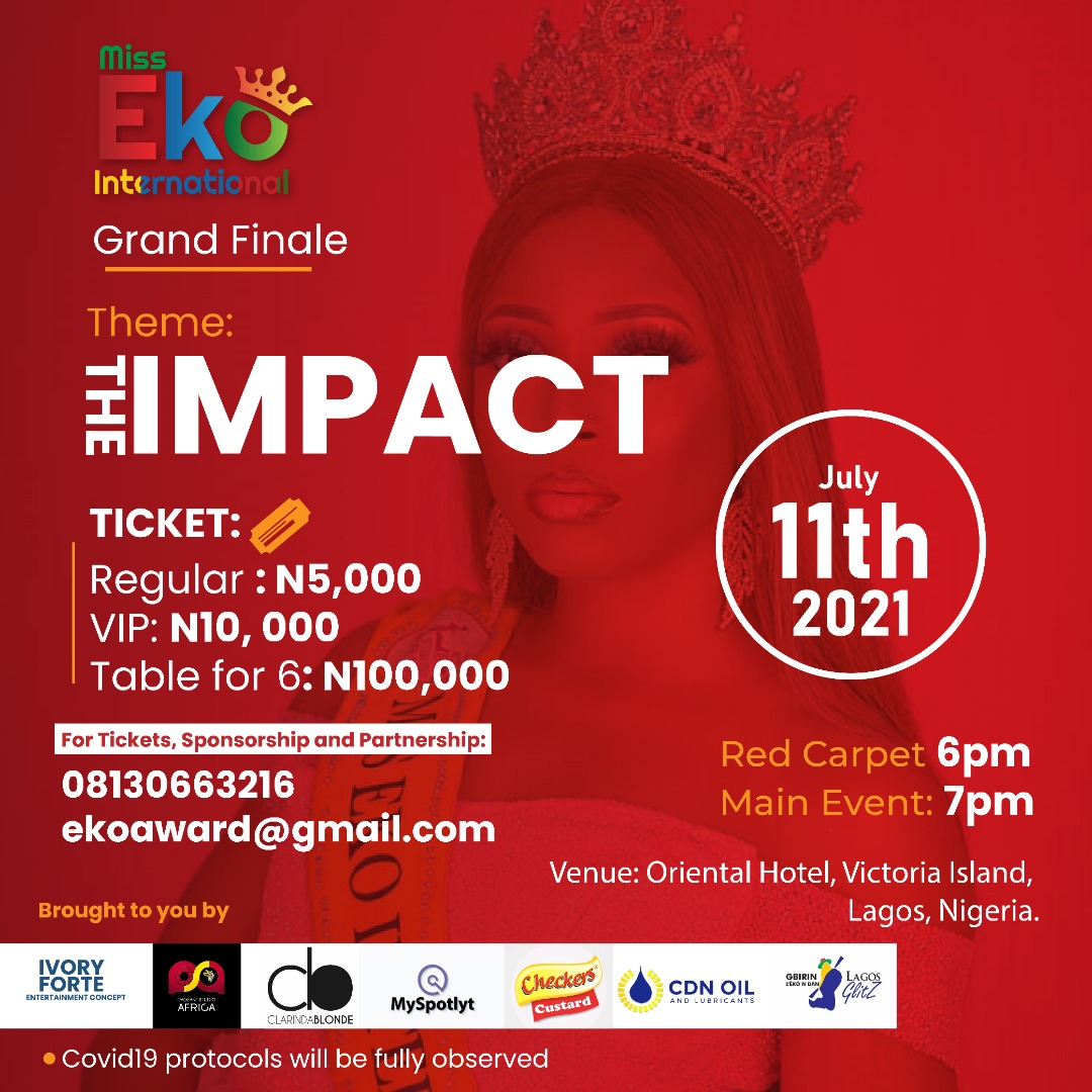 Miss Eko International: Ivory Forte Entertainment Concept To Honour Stakeholders In Entertainment And Traditional Sectors