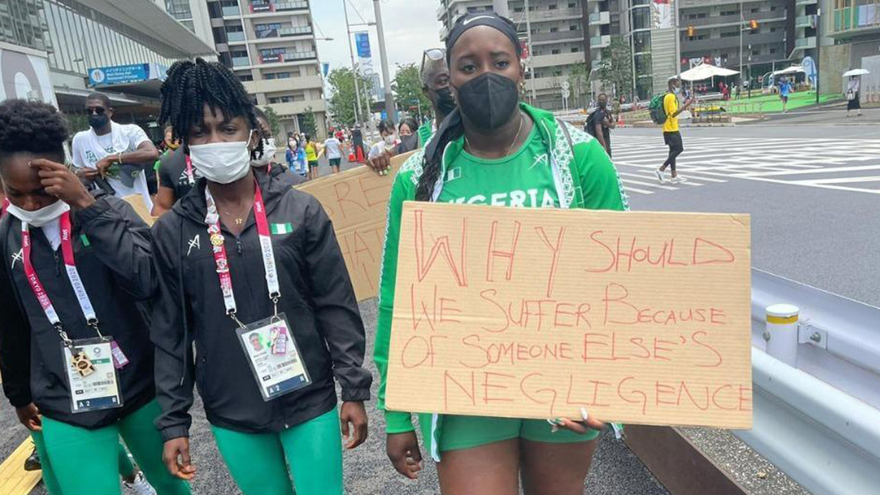 Nigerian athletes protest against administrators as Olympics dreams tumble