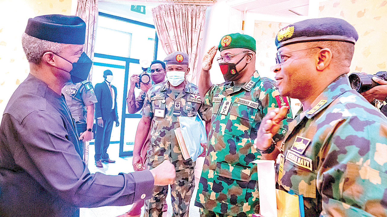 I'm not ready to leave office a failure, President tells service chiefs