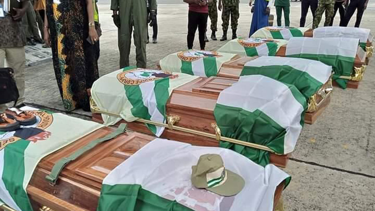 Tears, grief as NYSC flies bodies of corps members to Uyo for burial