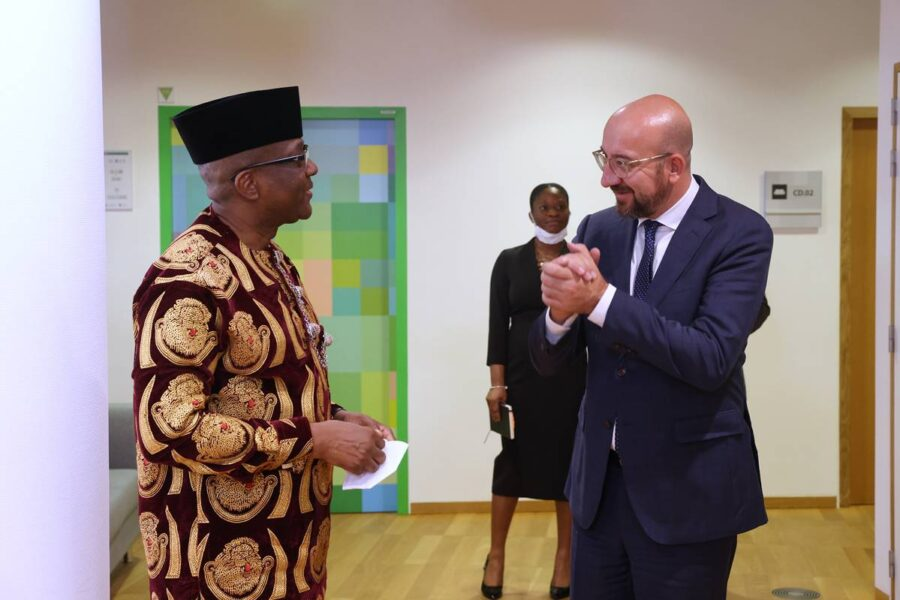 Amb. Onowu presents Letters of Credence to President of European Council