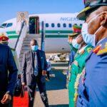 Buhari arrives New York, to push vaccine equity at UNGA